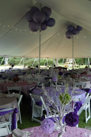 purple tables